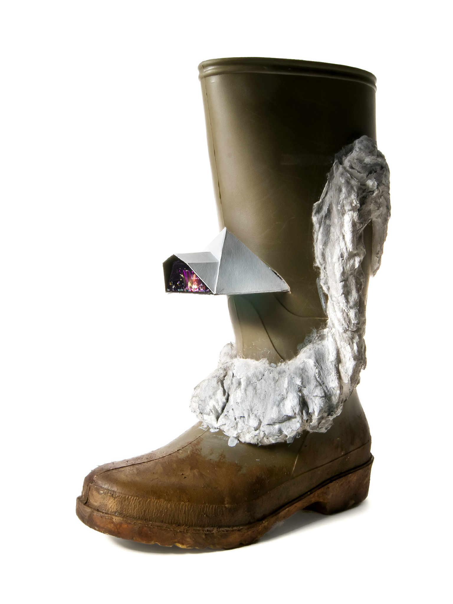 Welly customised to depict the visualness of Micheal Eavis.
