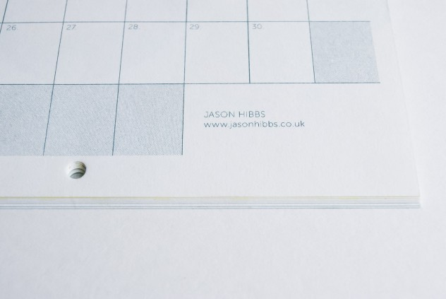 Photograph of my name on the LMNOP Calendar 2012