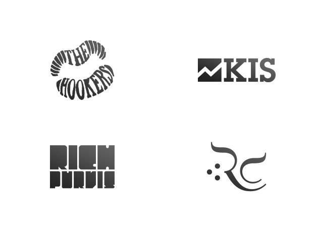 A collection of logos designed by Jason Hibbs