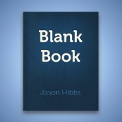 Screenshot of the Blank Book cover image.