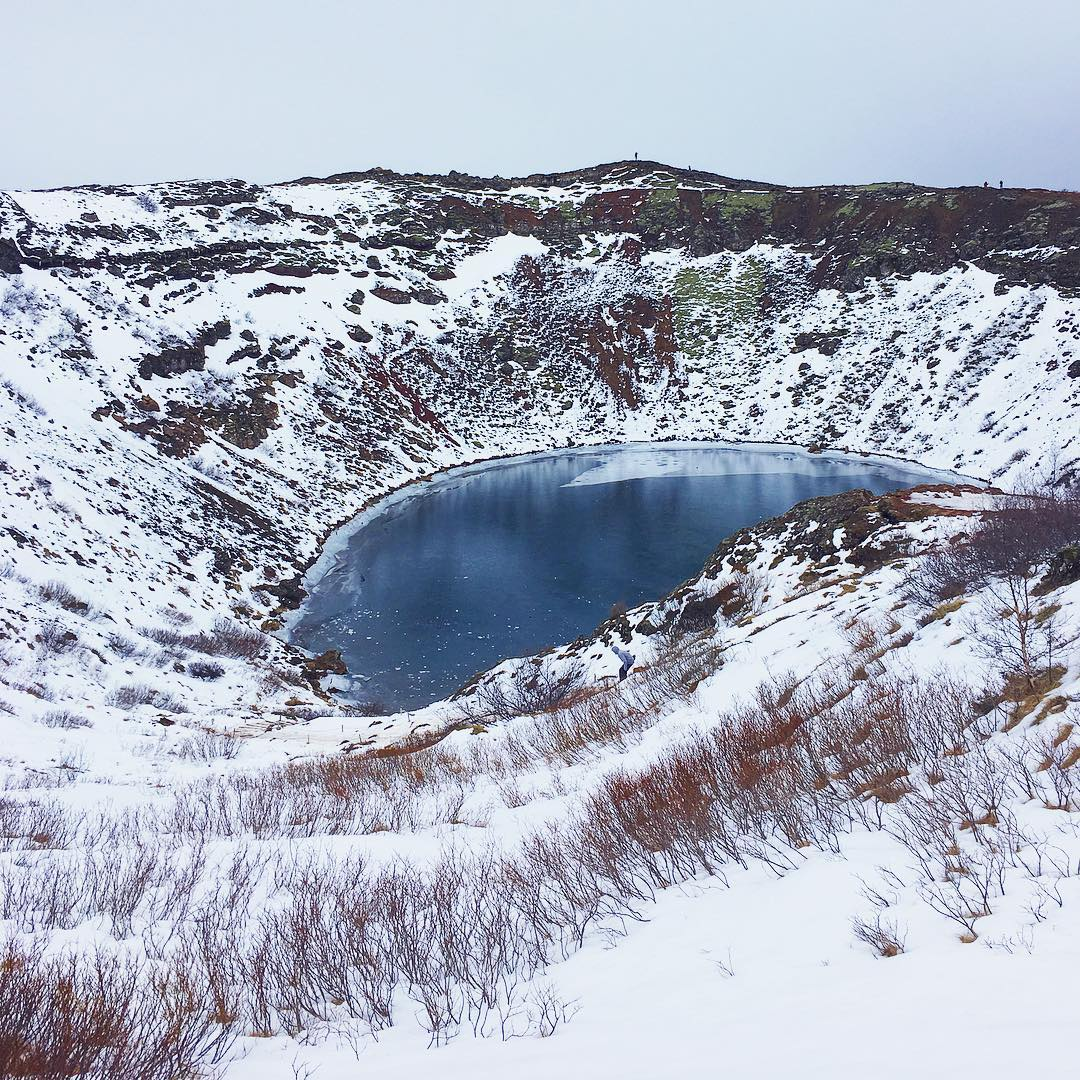 #snowy #icy #crater #pool
